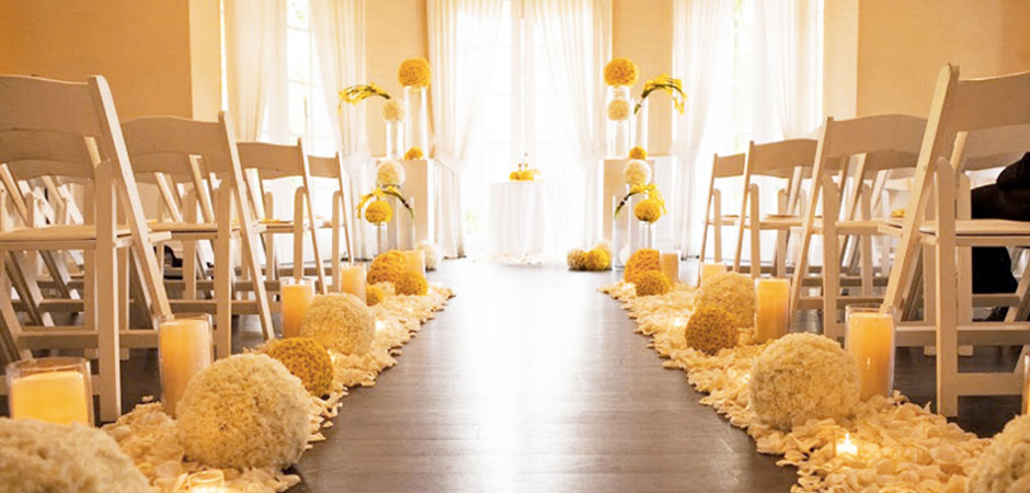 yellow wedding ceremony