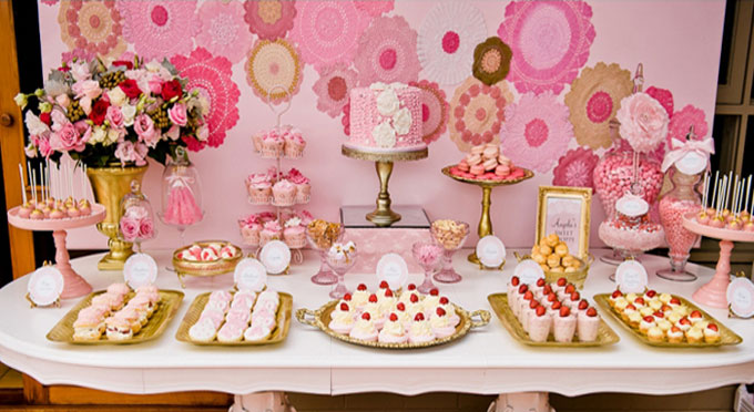 Bubble and Sweet: Pink Glamour Girl Birthday Party - Real ... |Sweet Treats Party Table